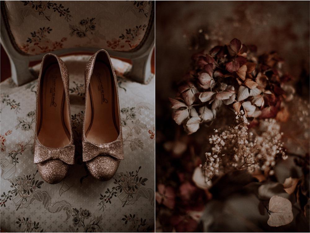 Mariage château de Bellevue, dessine moi un soulier