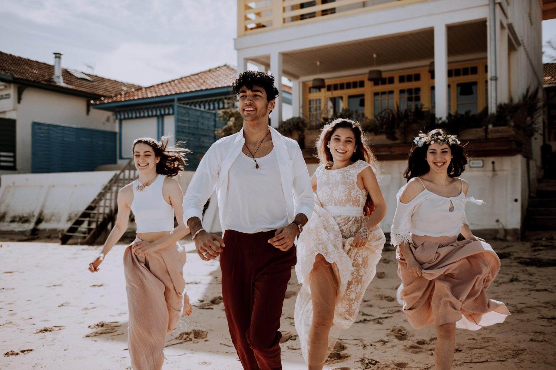 Mariage - arcachon - plage - sunset - wedding - photographe - photographe chambery - destination wedding - rock wedding