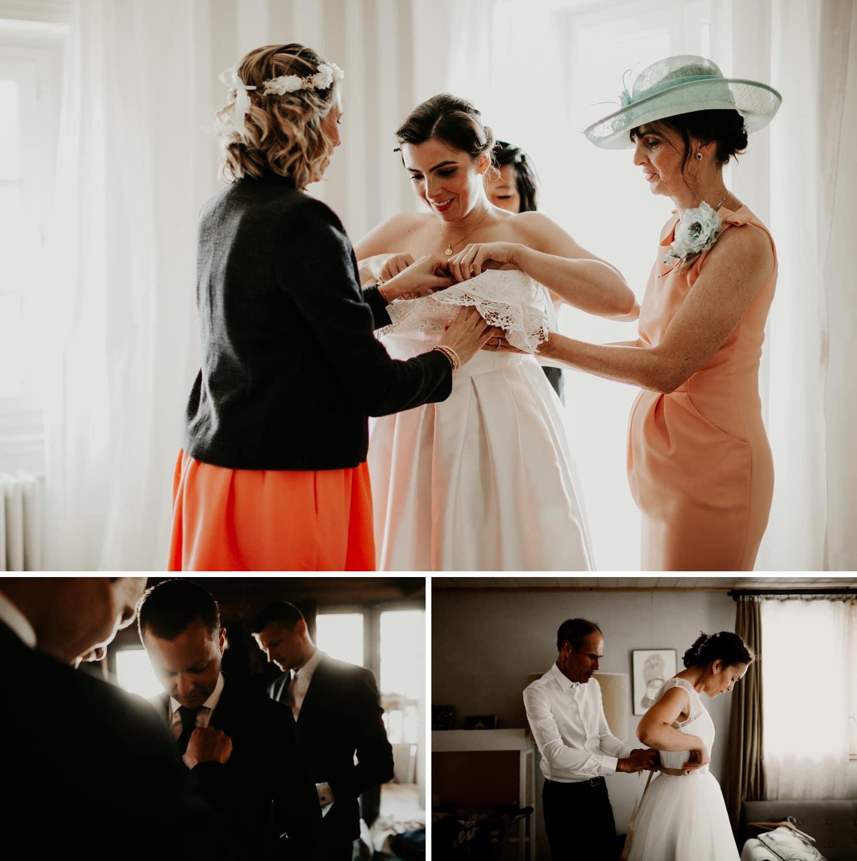 Les 7 astuces pour des préparatifs de mariage qui déchirent - Préparatif de la mariée entourée par ces proches