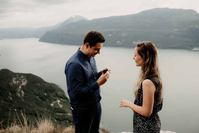 Demande en mariage au lac du Bourget